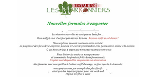 Le restaurant les Marronniers à Lamalou propose livraison et vente à emporter.