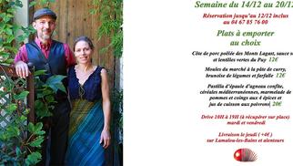 Les Marronniers à Lamalou propose leur nouvelle carte de plats à emporter