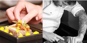 Matthieu Delauzun, une cuisine identitaire et personnalisée à découvrir au Prieuré St Jean de Bébian à Pézénas.(® site interent delauzun)