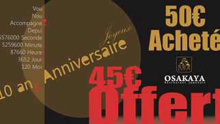 Pour ses 10 ans, Osakaya restaurant japonais au centre-ville de Béziers annonce une promotion exceptionnelle.(® SAAM fabrice Chort)