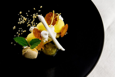 Les Tables gourmandes du Languedoc | Assiette de l'Auberge de l'Abbaye (® tables gourmandes)
