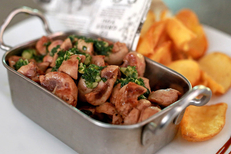 Brasserie Le Victor Béziers propose des plats traditionnels faits maison. Ici des rognons (® SAAM-fabrice Chort)