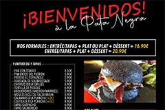 Pata Negra Béziers Restaurant | Carte, Menus et Plats à emporter